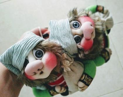 סט בובות גמדים לתליה/ בובה גמד/ בובה לתליה