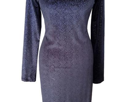 שמלת ערב קטיפה שחורה