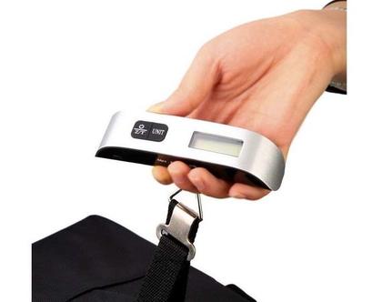 משקל דיגיטלי למזוודה | משקל נייד | משקל | משקל קטן | מתנה לחופשה |