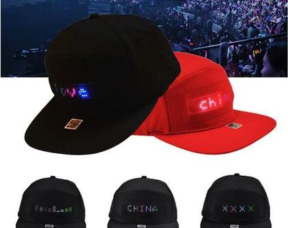 כובע מצחיה עם כיתוב LED דגם BTS