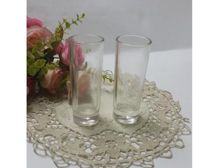 זוג כוסות צ'ייסרים מזכוכית   כוסות   כוסות לשתייה חריפה   כלי מטבח מיוחדים   מתנה לחבר  