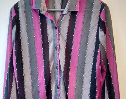 חולצה סיקסטיז פסים לגבר | חולצה מקורית משנות ה60' מידה 42