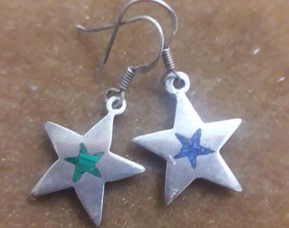 עגילי כוכב - עגילי כסף קטנים