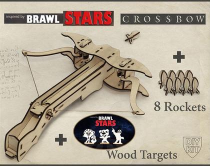 ערכה להרכבה של רובה קשת עם מטרות של Brawl Stars
