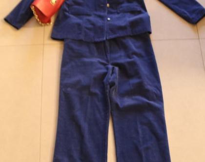 מכנס קורדורוי דק כחול לאישה- מידה 42