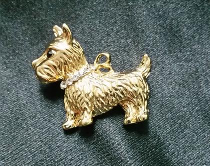 סיכה מיוחדת לבגד בצורת כלב | סיכת דש | סיכה לבגד | סיכה לאישה | קישוט לבגד | כלב |