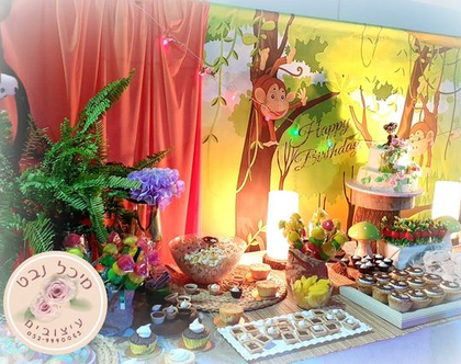שולחן מתוק קופיקו, שולחן בר מתוקים בנושא קופיקו, שולחן מתוק ליום הולדת קופיקו, קופיקו בר מתוק,