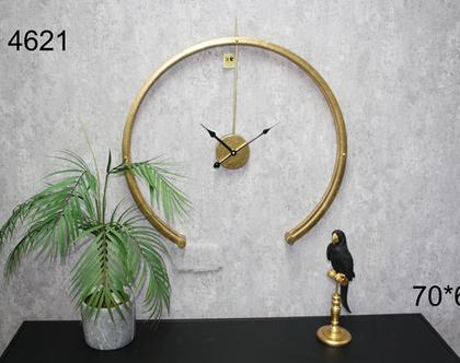 שעון קיר חתוך זהב
