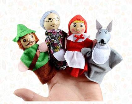 בובות אצבע כיפה אדומה   בובות לילדים   בובות אצבע   משחקי ילדים   כיפה אדומה  בובות אצבע כיפה אדומה   בובות לילדים   בובות אצבע   משחקי ילדי