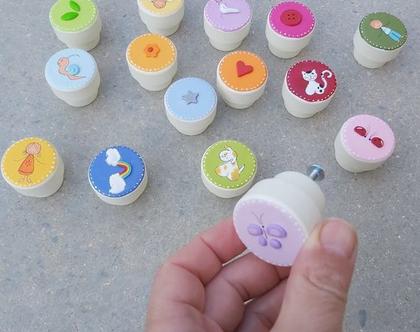ידיות בעיצוב צבעוני ושמח :)
