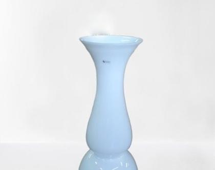"""אגרטל זכוכית לבן גבוה 75 ס""""מ"""