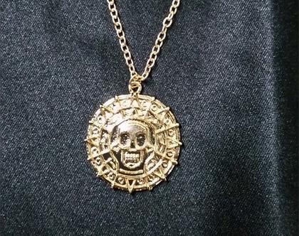 שרשרת פיראטים בצבע זהב | שרשרת מיוחדת | שרשרת מעוצבת | מתנה מקורית | תכשיט מעוצב |