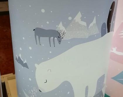 אהיל מאוייר דב קוטב   אהילים לחדרי ילדים   מנורות לחדרי ילדים   אהיל מעוצב