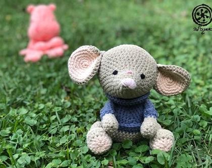 בובה סרוגה בעבודת יד עכבר