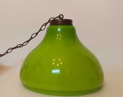 מנורת מורנו ירוקה