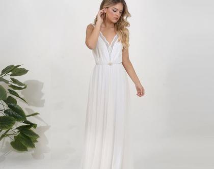 שמלת כלה בוהו שיק טופ תחרה