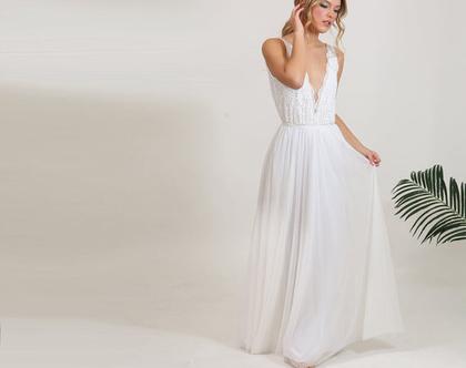 שמלת כלה טופ תחרה