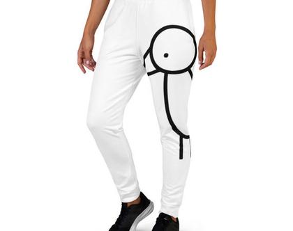 מכנסי ג'וגרס לבנים | טרנינג לבן | מכנס לבן | מכנסיים לבנים