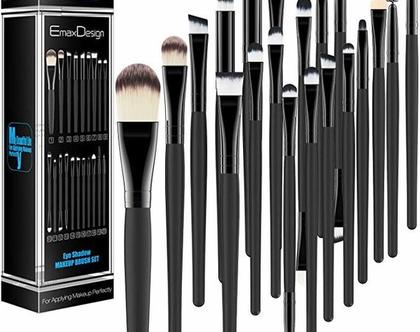 סט מברשות איפור 20 יחידות מדהים לנשים EmaxDesign