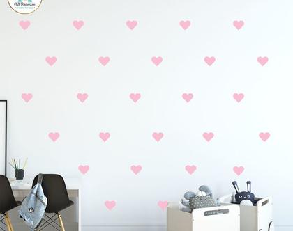 מדבקות קיר לבבות | מדבקות לחדרי ילדים | עיצוב חדרי ילדים | עיצוב קירות