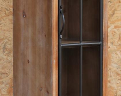 וטרינה דלת אחד משולבת מתכת-יעקב