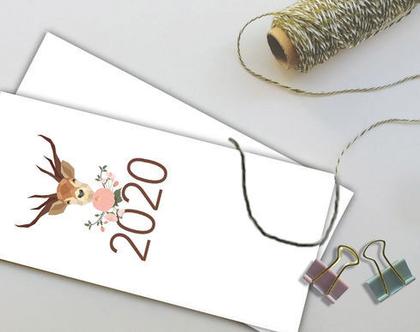 לוח שנה אישי 2020 | לוח שנה דגם איילים | מודפס על נייר ממוחזר אנגורה