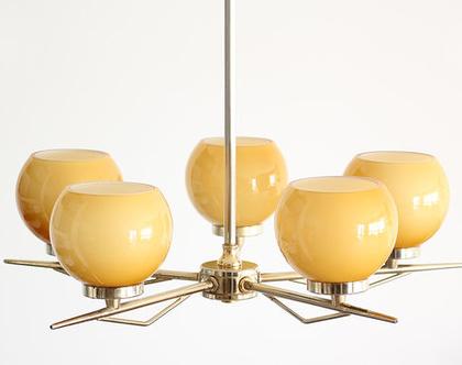נברשת ארט דקו צרפתית, מנורת פליז, נברשת וינטאג׳