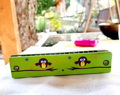 מפוחית לילדים | מפוחית מעץ | מפוחית ינשופים | מתנה לילדים
