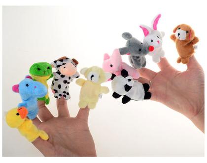 סט מקסים של 10 בובות אצבע   בובות לילדים   בובות אצבע   משחקי ילדים  