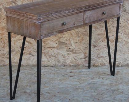 קונסולה עץ משולב ברזל-יעקב