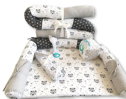 נחשוש | סט למיטת תינוק | מארז לידה | סט ליולדת | סט ללידה | מתנת לידה | סט למיטת תינוק | שמיכת חורף | קוביה