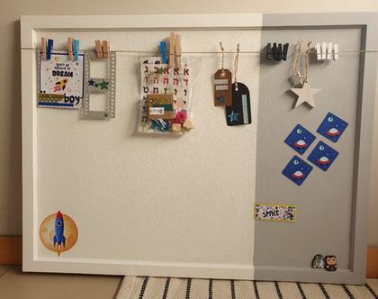 לוח שעם למשרד | אפור לבן 60/80 |לוח ימי הולדת | לוח חדר TEENAGE | עיצוב פנים | לוח מודעות |