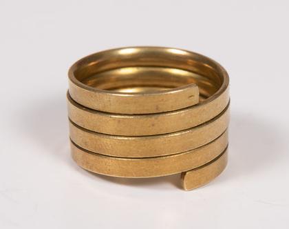טבעת פליז מלופפת דקה ועמידה במים!
