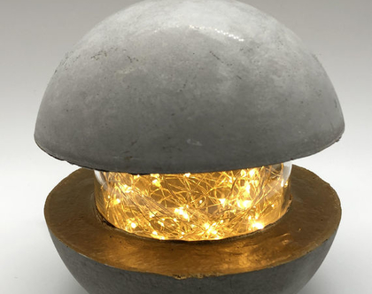 גופי תאורה מבטון - גוף תאורה כדורי מבטון