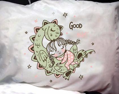 הדפסה על ציפית לכרית - דגם Good night