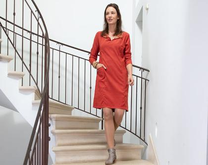 שמלה אדומה לחורף