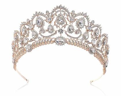 כתר הנסיכה במיוחד לכלות משובץ זרקונים מהמם ביופיו איכות מעולה ב 4 צבעים לבחירה