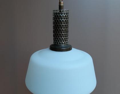 מנורה יורדת תקרה:תאורה לבית:מנורות וינטאג:מנורת מורנו לבנה: