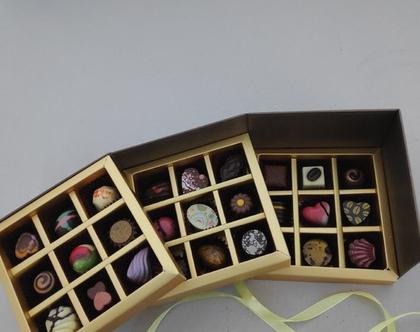 מארז מפואר של 27 פרליני שוקולד בלגי בעבודת יד