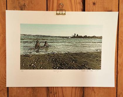 הדפס חוף ים , הדפס למיסגור