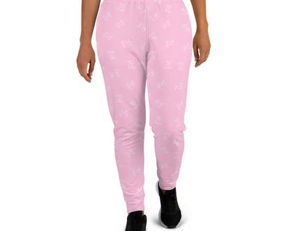 מכנסי ג'וגרס ורודים | טרנינג ורוד | מכנסיים ורודים | מכנסי ספורט