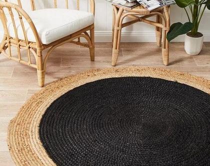 שטיח חבל טבעי מלבן/עגול בעבודת יד -מידות לבחירה
