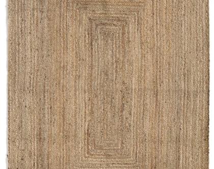 שטיח חבל טבעי בעבודת יד מלבן - מידות לבחירה
