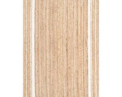 """שטיח חבל טבעי בעבודת יד - ראנר 75/240 ס""""מ"""
