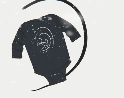 אוברול תינוק מולי גולש שחור | אוברולים לתינוק מודפסים | מתנה ללידה | בגד גוף לתינוק | בגדי גוף לתינוקות