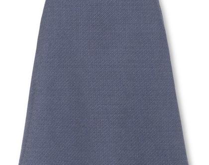 חצאית כחולה בהירה בגזרה גבוהה וחגורה במותן (אליזה)