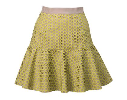 חצאית לוטוס צהובה