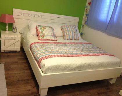 מיטה זוגית/מיטה וחצי ראש מיטה 2 ארוניות לילה