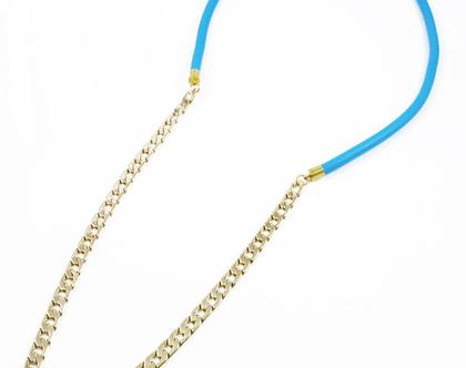 שרשרת גורמט סיליקון כחול/ שרשרת בייסיק/ שרשרת לרגישות