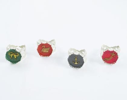 טבעת ברבור/ טבעת חותם/ טבעת מתכווננת